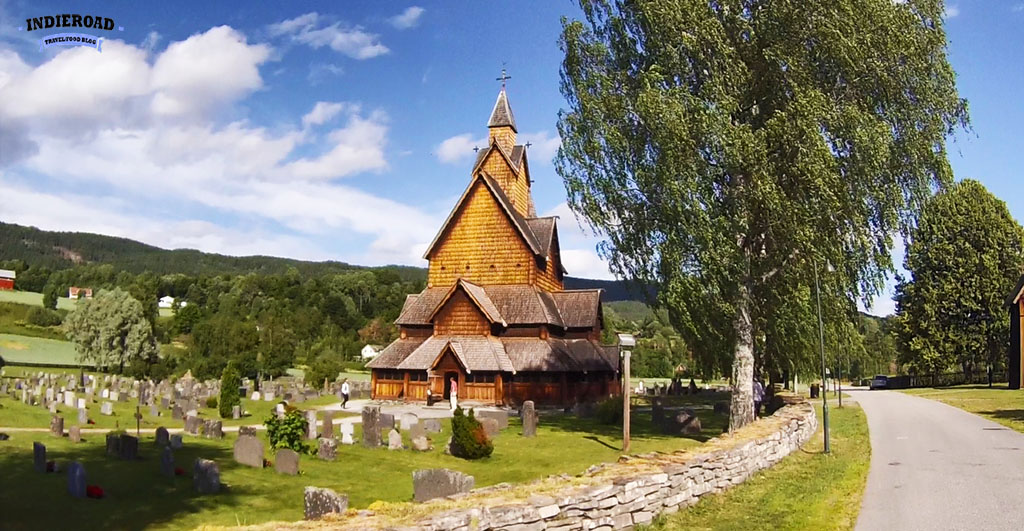 heddal stavkirke chiesa in legno notodden norvegia