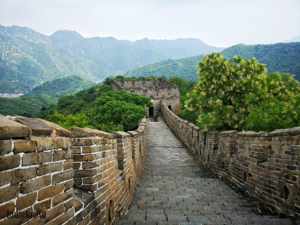 grande muraglia cinese mutianyu durante scalo pechino